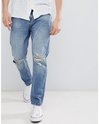 hellblaue Jeans mit Destroyed-Effekten von Rollas