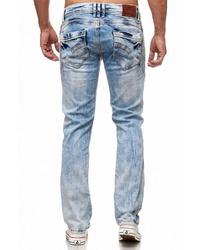 hellblaue Jeans mit Destroyed-Effekten von RUSTY NEAL