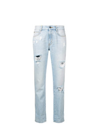hellblaue Jeans mit Destroyed-Effekten von Stella McCartney