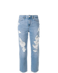 hellblaue Jeans mit Destroyed-Effekten von Tommy Hilfiger