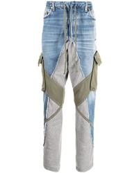 hellblaue Jeans mit Flicken von Greg Lauren
