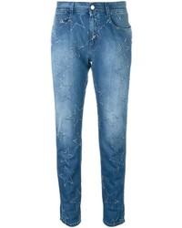 hellblaue Jeans mit Sternenmuster