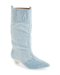 hellblaue Jeans Stiefeletten