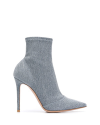 hellblaue Jeans Stiefeletten von Gianvito Rossi