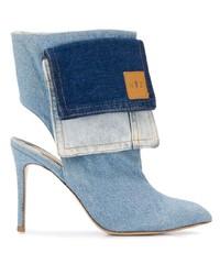 hellblaue Jeans Stiefeletten von Natasha Zinko