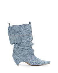 hellblaue Jeans Stiefeletten von Stella McCartney