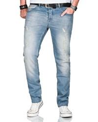 hellblaue Jeans von Alessandro Salvarini