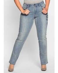 hellblaue Jeans von SHEEGO DENIM