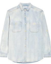 hellblaue Jeansbluse mit knöpfen von MiH Jeans