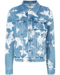 hellblaue Jeansjacke mit Sternenmuster von Givenchy
