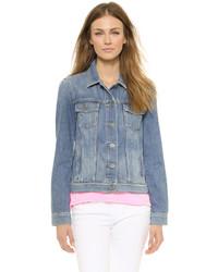 hellblaue Jeansjacke von Paige