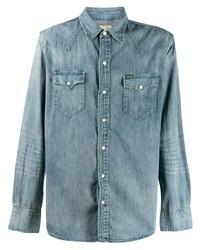 hellblaue Jeansjacke von Polo Ralph Lauren