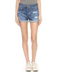 hellblaue Jeansshorts von AG Jeans