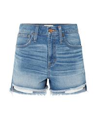 hellblaue Jeansshorts von Madewell