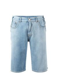 hellblaue Jeansshorts von MM6 MAISON MARGIELA