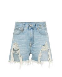 hellblaue Jeansshorts von R13