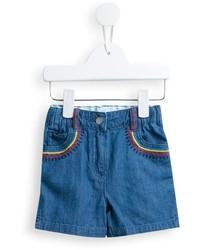 hellblaue Jeansshorts von Stella McCartney