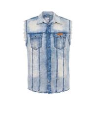 hellblaue Jeansweste von Cipo & Baxx