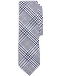 hellblaue Krawatte mit Schottenmuster