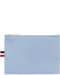 hellblaue Leder Clutch Handtasche