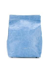 hellblaue Leder Clutch von Simon Miller