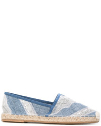 hellblaue Leder Espadrilles von Ermanno Scervino