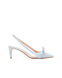 hellblaue Leder Pumps von RED Valentino