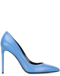 Hellblaue Leder Pumps von Saint Laurent