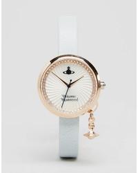 hellblaue Leder Uhr von Vivienne Westwood