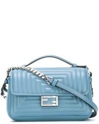 Hellblaue Leder Umhängetasche von Fendi