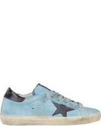 hellblaue niedrige Sneakers
