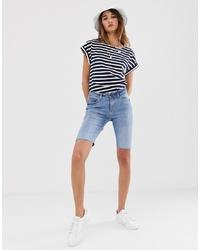 hellblaue Radlerhose aus Jeans