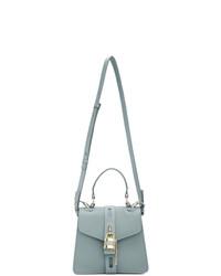 hellblaue Satchel-Tasche aus Leder von Chloé