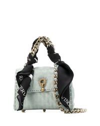 hellblaue Satchel-Tasche aus Leder von Ermanno Scervino