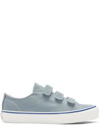 hellblaue Segeltuch niedrige Sneakers