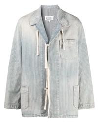 hellblaue Shirtjacke aus Cord von Maison Margiela