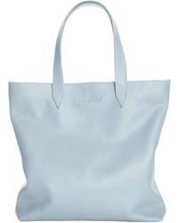 hellblaue Shopper Tasche aus Leder