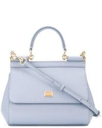 hellblaue Shopper Tasche aus Leder von Dolce & Gabbana