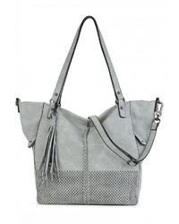 hellblaue Shopper Tasche aus Leder von SURI FREY
