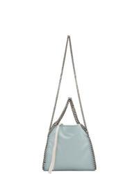 hellblaue Shopper Tasche aus Wildleder von Stella McCartney