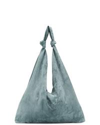 hellblaue Shopper Tasche aus Wildleder von The Row