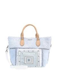 Hellblaue Shopper Tasche von Desigual