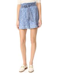 hellblaue Shorts von Ulla Johnson