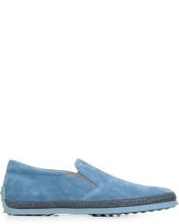 hellblaue Slip-On Sneakers