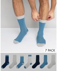 hellblaue Socken von Asos