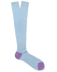 hellblaue Socken