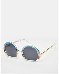 hellblaue Sonnenbrille von Asos