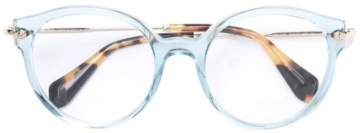 hellblaue Sonnenbrille von Miu Miu