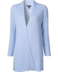 hellblaue Strickjacke mit einer offenen Front von Eileen Fisher