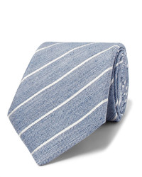 hellblaue vertikal gestreifte Krawatte von Canali